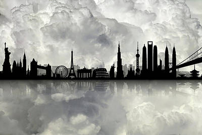 The Best City Skyline Poster by Lilia D