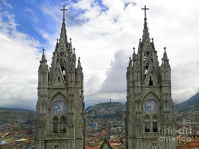 The Best View In Quito Ecuador Poster by Al Bourassa