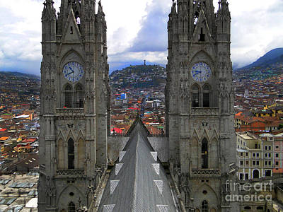 The Best View In Quito Ecuador Iv Poster by Al Bourassa