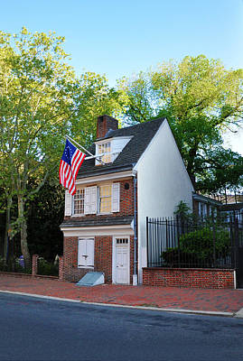 The Betsy Ross House Philadelphia Poster by Bill Cannon