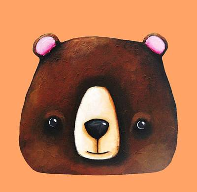 The Big Brown Bear Poster by Lucia Stewart