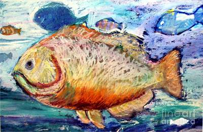 Poster featuring the painting The Big Fish by Diane Ursin