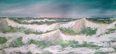 Poster featuring the painting The Big Surf by Carol Grimes
