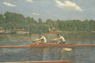 The Biglin Brothers Racing Poster by Thomas Eakins