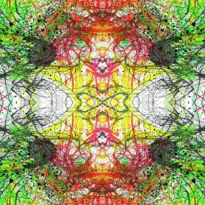 The Birth Of Consciousness #1431 Poster by Rainbow Artist Orlando L aka Kevin Orlando Lau