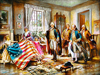 The Birth Of Old Glory Redux 20150710 Poster by Wingsdomain Art and Photography