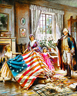 The Birth Of Old Glory Redux 20150710v2 Poster by Wingsdomain Art and Photography