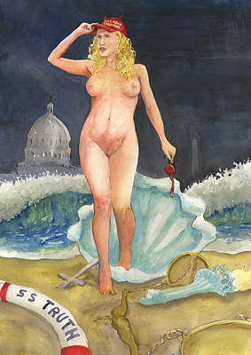 Poster featuring the painting The Birth Of Stormy Rise Of The New Moral by Brian Meyer