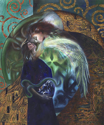 Poster featuring the painting The Birth Of The World by Ragen Mendenhall