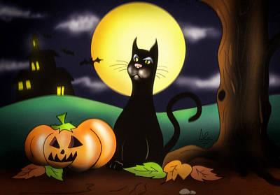The Black Cat Poster by Alessandro Della Pietra