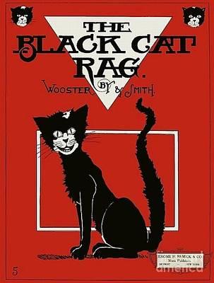 The Black Cat Rag 1905 Sheet Music Art Poster