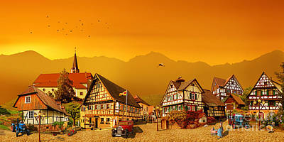 The Black Forest Village From The Past Poster
