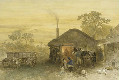 The Blacksmith Poster by Charles Rochussen