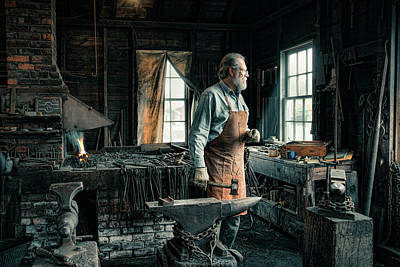 Poster featuring the photograph The Blacksmith - Smith by Gary Heller