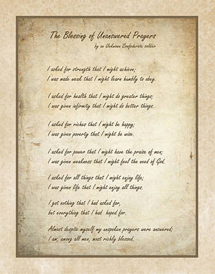 The Blessing Of Unanswered Prayers Poster