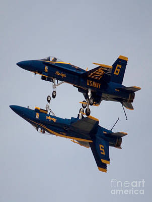 The Blue Angels Flying Over The Another Poster