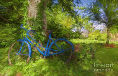The Blue Bicycle Poster