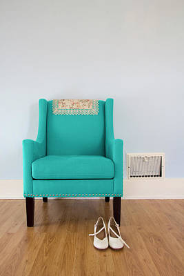The Blue Chair Poster