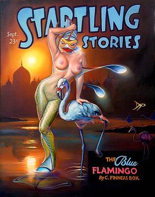 The Blue Flamingo Poster