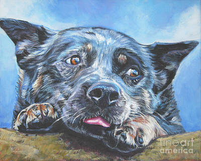 Poster featuring the painting The Blue Heeler by Lee Ann Shepard