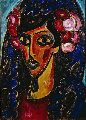 The Blue Mantilla1913 Poster by Alexei Jawlensky