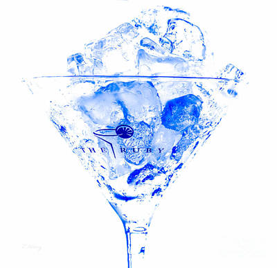 The Blue Ruby Martini Poster by Rene Triay Photography