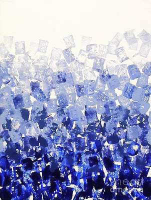 The Blues Blocks Poster by Jilian Cramb - AMothersFineArt