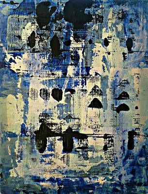 The Blues Abstract Poster