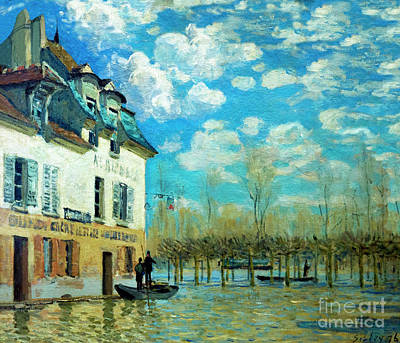 The Boat During The Flood, La Barque Pendant L'inondation, Port- Poster by Peter Barritt
