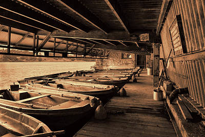 Poster featuring the photograph The Boat House  by Scott Carruthers