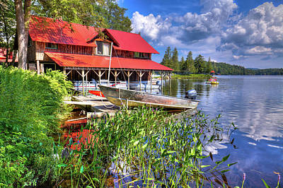 Poster featuring the photograph The Boathouse At Covewood by David Patterson