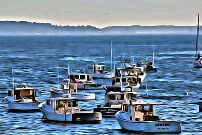 The Boats At Owls Head Poster