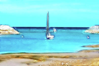 The Boats Come In Poster by Sharon Lisa Clarke