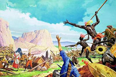 The Boers Fight For The Promised Land Poster by Severino Baldini