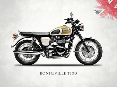 The Bonneville T100 Poster by Mark Rogan