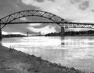 Poster featuring the photograph The Bourne And Railroad Bridges by Michelle Wiarda