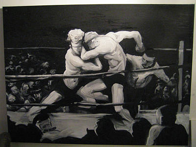The Boxing Match Poster by John Baker