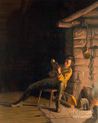 The Boyhood Of Lincoln Poster by Granger