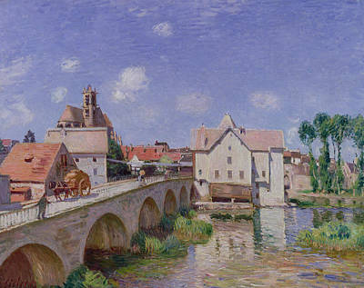 The Bridge At Moret Poster by Alfred Sisley