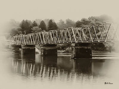 The Bridge At Washingtons Crossing Poster by Bill Cannon