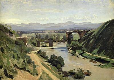 The Bridge Of Augustus Over The Nera Poster by Jean Baptiste Camille Corot