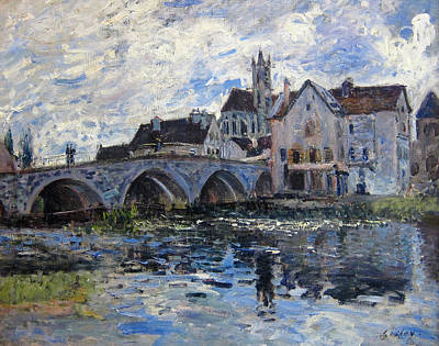 The Bridge Of Moret Poster by Alfred Sisley