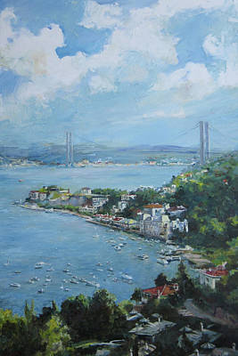 The Bridge Over Bosphorus Poster by Tigran Ghulyan