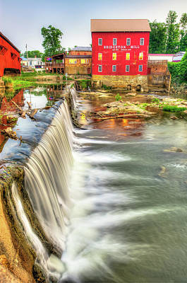 The Bridgeton Mill In Indiana - Est. 1823 Poster by Gregory Ballos