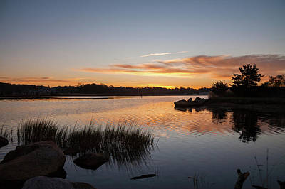Poster featuring the photograph The Brink - Pawcatuck River Sunrise by Kirkodd Photography Of New England