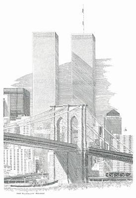 The Brooklyn Bridge Poster by Bruce Arvon