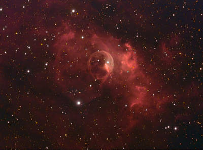 Poster featuring the photograph The Bubble Nebula by Charles Warren