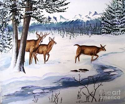 Poster featuring the painting The Buck Stops Here by Patricia L Davidson