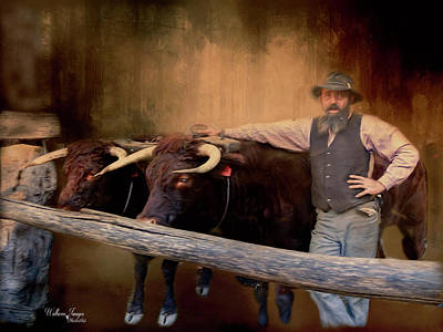 Poster featuring the photograph The Bullock Driver by Wallaroo Images