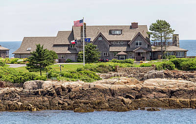 The Bush Compound Kennebunkport Maine Poster by Brian MacLean
